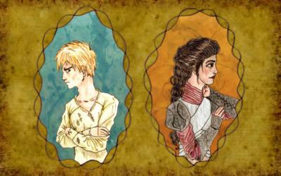 Shasta and Aravis by KatelynRenee