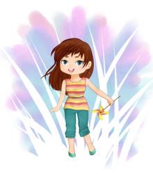 Pinwheel Girl by KatelynRenee