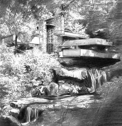 Falling Water by F.L. Wright by Joilieder