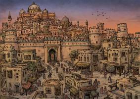 Medieval arabic city by Hetman80