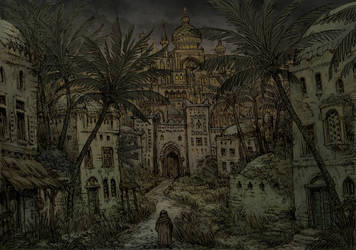 Medieval arabic city - The Marsh Gate by Hetman80
