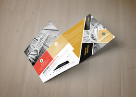 Multi Use Business Square Trifold Template by Designhub719
