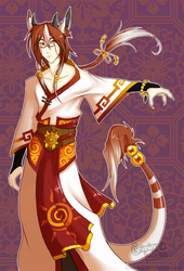 Celestial Guardian of the Sun - Yun by grinningLotus
