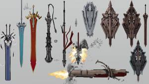 Weapon designs by nolan192