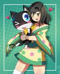 Senran Persona- Asuka and Morgana by AlineSM