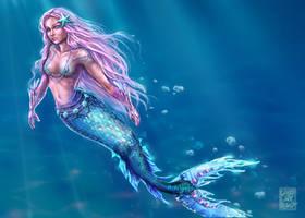 Little shiny Mermaid by Vallynia