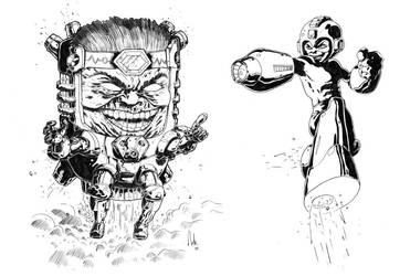 MODOK V Megaman by natelyon