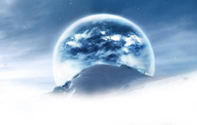 Above the sky - A new world .. by Tsukuroh-Kin