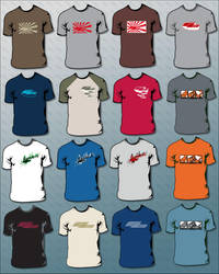 RB T-shirts designs by extrem