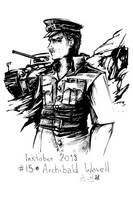 Inktober 15 Archibald Wavell by YunaXD