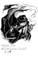 Inktober 22 Winston Churchill by YunaXD