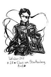 Inktober 28 Claus von Stauffenberg by YunaXD