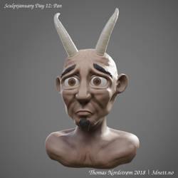 Sculptjanuary Day 12 - Pan by 3dnett