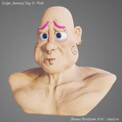 Sculptjanuary Day 13 - Punk by 3dnett