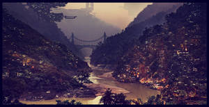 Sci Fi City by famalchow