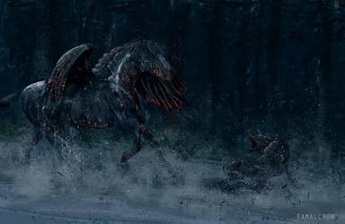 Black Pegasus by famalchow