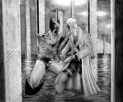 Wolverine vs Grifter by clarkspark