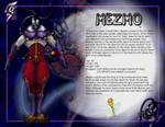 Mezmo - Character Sheet by clarkspark
