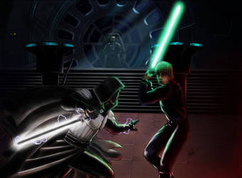 Starkiller vs Luke Skywalker by clarkspark