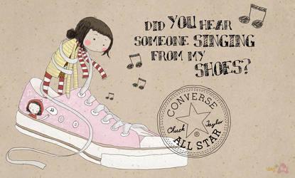 singing converse by deWhin
