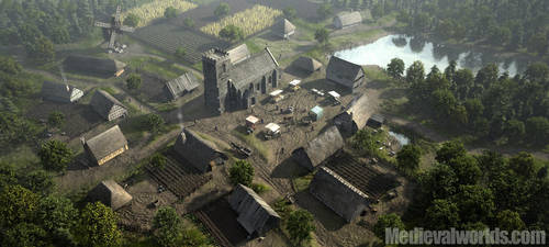 Medieval Village by svenart