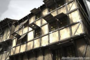 medieval housefront by svenart