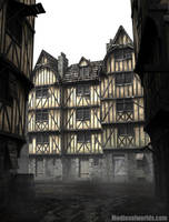 half timbered houses by svenart