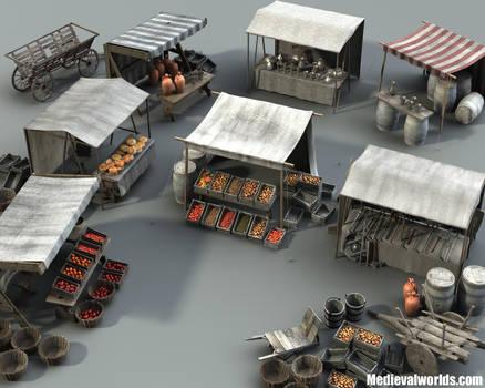 Medieval Marketplace 3 by svenart