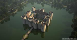 Bodiam Castle by svenart