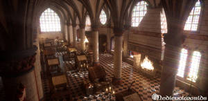 Mont-Saint-Michel Scriptorium by svenart