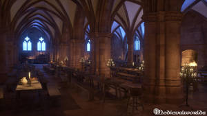 La Conciergerie medieval Lower Room by svenart