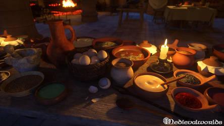 Medieval Kitchen by svenart