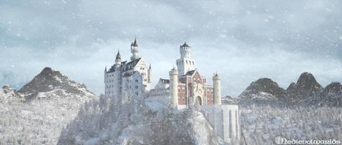 Neuschwanstein castle by svenart