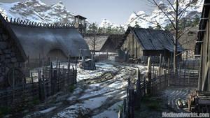 Beron Lomp medieval village by svenart