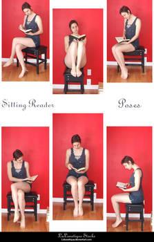 STOCK - Sitting Reader by LaLunatique