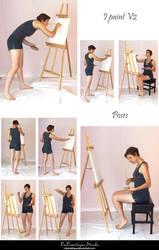 STOCK - I paint V2 by LaLunatique