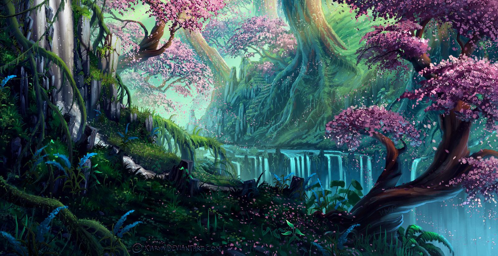 Pink Trees by Kiarya