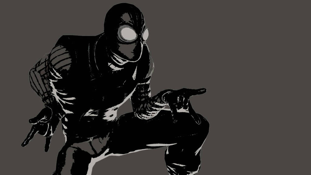 Spider Man Noir Minimalist Wallpaper By Leoheart7 On Deviantart