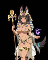 Sakura Dungeon : Anubis Damaged by Leoheart7
