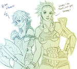 FE sketch request - Silence and Tenure by keiiii