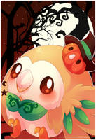 Rowlet: Halloween Time by SeviYummy