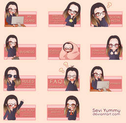 COMMISSION: Twitch panels by SeviYummy