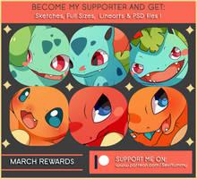 March 2018 Patreon Rewards by SeviYummy