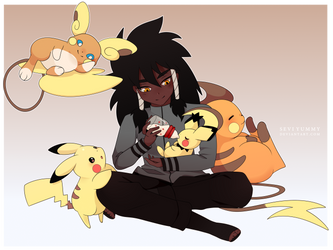 [COMMISSION] The Pikachu-family by SeviYummy
