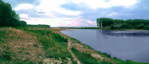 Sunset on the river by Radu-Mihai