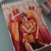 Lady Bathory sketch by ElenaDarkBerry