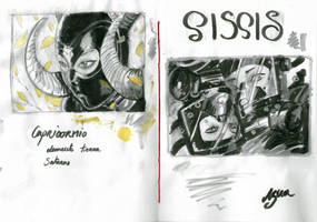 Sketchbook Rubber Zodiac by ElenaDarkBerry