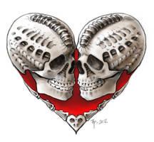 Skull heart by tpenttil