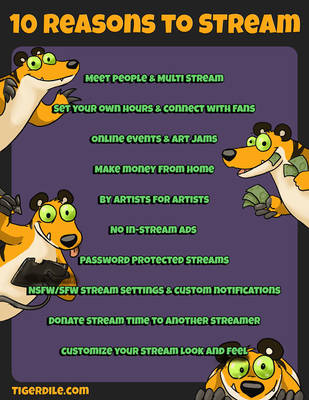 10 Reasons to Stream by Tigerdile