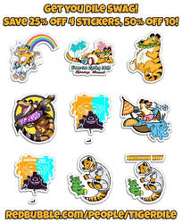 25-50% off Stickers! by Tigerdile